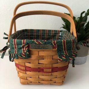 Longaberger Christmas 1995 basket vintage